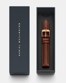 Daniel Wellington Petite 14 St Mawes RG DW00200145  Leather Watch Strap Brown