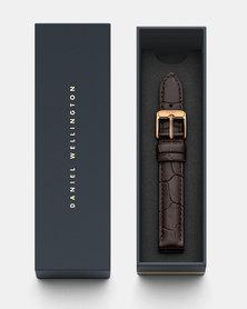 Daniel Wellington Petite 14 York RG DW00200146 Leather Watch Strap Brown