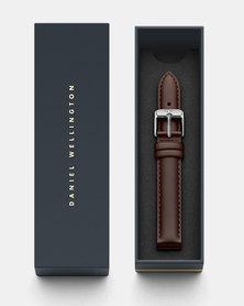 Daniel Wellington Petite 14 Bristol S DW00200147 Leather Watch Strap Brown