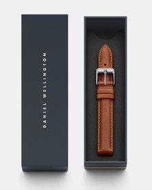 Daniel Wellington Petite 14 Durham S DW00200148 Leather Watch Strap Brown
