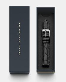 Daniel Wellington Petite 14 Reading S DW00200149 Leather Watch Strap Black