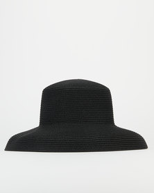 Miss Maxi Classic Straw Hat Black