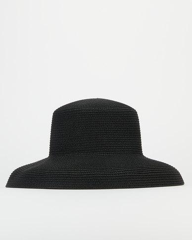 Miss Maxi Classic Straw Hat Black