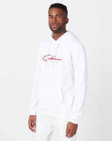 Golden Equation  Logo Hooded Sweatshirt White