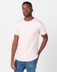 D-Struct Printed Miami Stripe T-shirt Pink