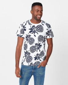 D-Struct Pineapple T-shirt White