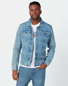D-Struct Stonewash Denim Jacket Blue