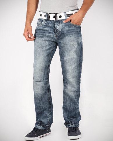 9178f0fb26e Crosshatch Hornet Denim Jeans Blue | Zando