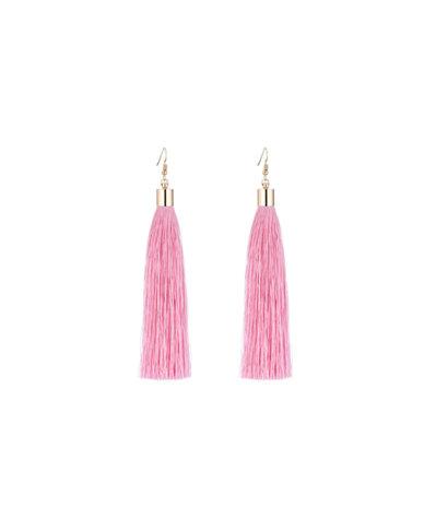 We Heart This Long Pink Tassel Earrings