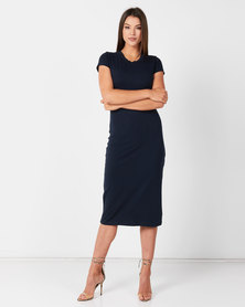 Utopia Basic Knit Dress Navy