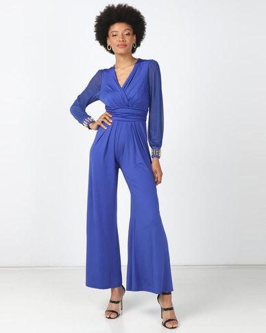 Princess Lola Boutique - D' Azure Jumpsuit - Blue