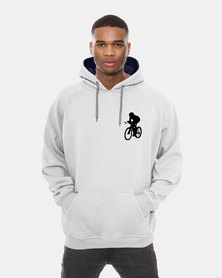 Casa di Cincanra Colorful Biker Hoodie White