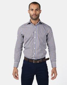 Zedel Monterey Brown & Blue Check Shirt