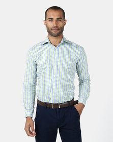 Zedel Monterey Blue & Green Check Shirt
