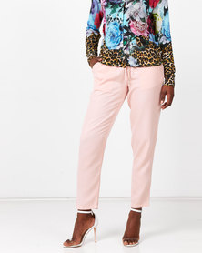 Queenspark Tencil Woven Trousers Pink