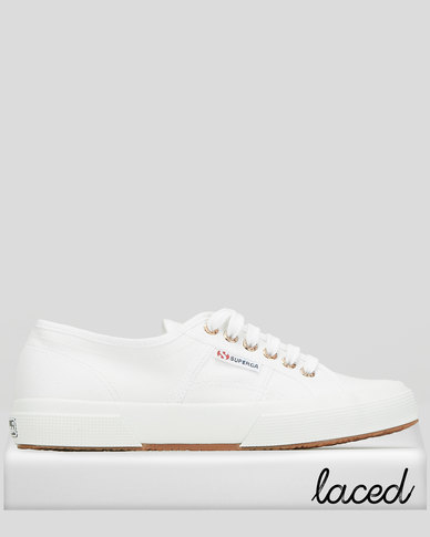 Superga Classic Canvas Slip On  White/Rose Gold