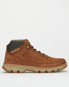 Caterpillar Stonebriar Lace Up Boots Walrus Brown