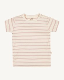 Boody Eco Wear Stripe T-Shirt Chalk/Rose - 2 Pack