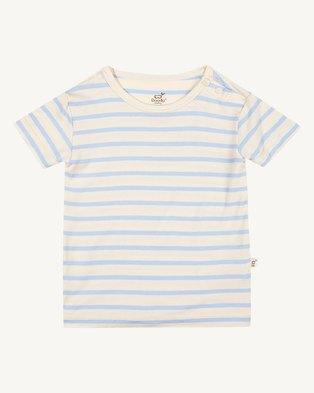 Boody Eco Wear Stripe T-Shirt Chalk/Sky - 2 Pack