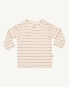 Boody Eco Wear Stripe Long Sleeve Top Chalk/Rose  - 2 Pack