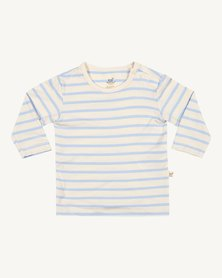 Boody Eco Wear Stripe Long Sleeve Top Chalk/Sky - 2 Pack