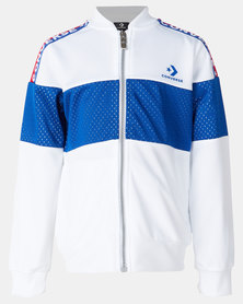 Converse Boys 2 Tone Colourblock Track Jacket White
