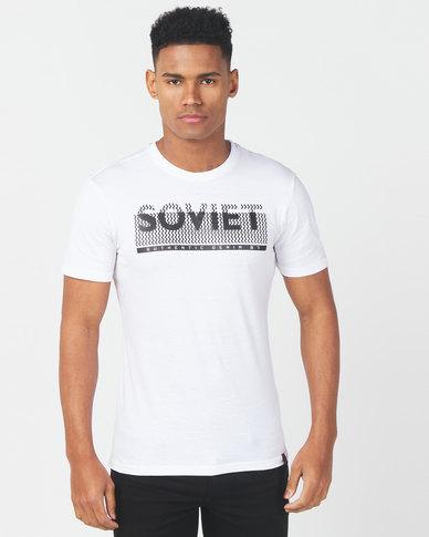 Soviet Bills Printed Slim Fit T-shirt White