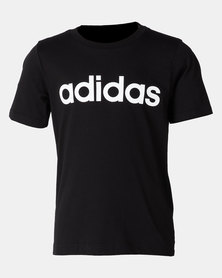 adidas Performance Boys Linear Tee Black/White