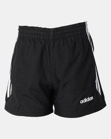 adidas Performance Boys Essential 3 Stripe Plain Shorts Black