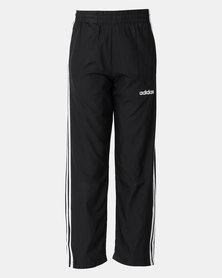 adidas Performance Boys Essential 3 Stripe Woven Pants Black
