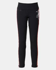 adidas Performance Girls Floral Leggings Black