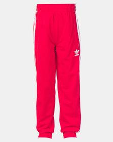 adidas Originals Boys Superstar Pants Scarlet/White