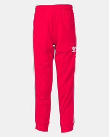 adidas Originals Boys Youth Superstar Pants Scarlet/White