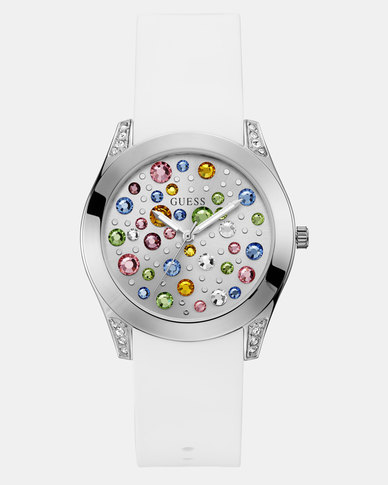 Guess Wunderlust Watch Silver /White
