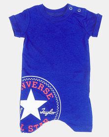 Converse CNVB LOGO Shortall Baby Grow Blue