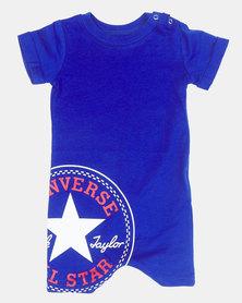 Converse CNVB-Logo Shortall Baby Grow Blue