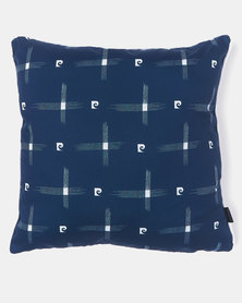 Pierre Cardin Criss Cross Piped Scatter Cushion Blue