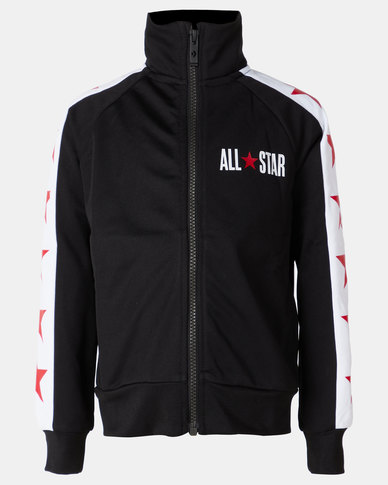 85feb0553 Converse Boys All Star Tricot Track Jacket Black