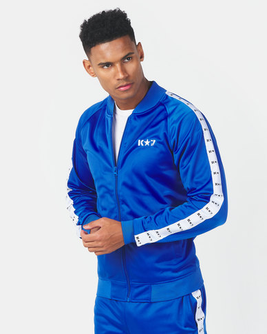 K-Star 7 Winner Trico Zip Through Track Top Royal