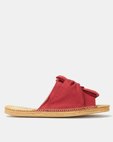KG Canvas Slip On Sandals Rust
