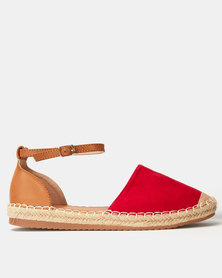 Awol Ankle Tie Espadrille Red