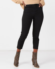 Utopia Mom Fit Jeans With Elastic Black