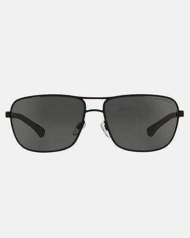 Emporio Armani 0EA2033 309487 Rectangle Sunglasses Black