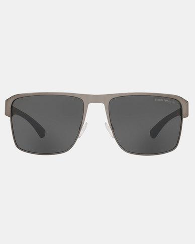 Emporio Armani 0EA2066 300387 Pillow Sunglasses Matte Gunmetal