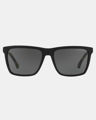 Emporio Armani 0EA4117 570187 Rectangle Sunglasses Matte