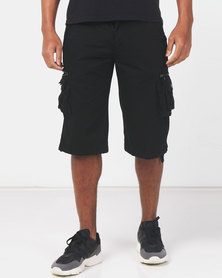 Utopia Cotton Cargo Shorts Black