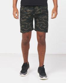 Utopia Cotton Pull on Shorts Camo