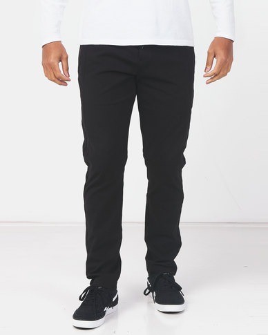 Utopia Tapered Leg Casual Trousers Black