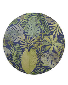 Hey Casey! Round Mouse Pad - Palm Leaves