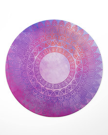 Hey Casey! Round Mouse Pad - Purple Mandala